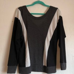 Black, Gray, and White Sweater NWOT